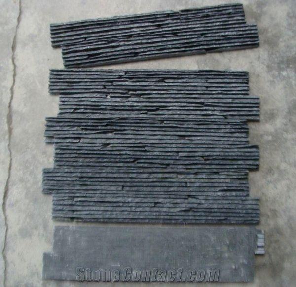 Z Shape Black Slate Stack Stone Culture Stone Stone Veneer