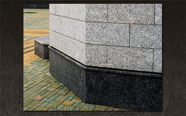Gabbro Diabase And Grey Granite Facade From Belarus