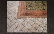 Karelia Red, Ladoga Red Granite Cobble Stone for Landscaping, Road Application