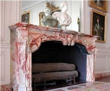 Agate Red Marble Fireplaces
