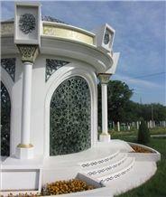 Polaris Classic White Marble Memorial