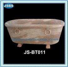 Carved Natural Marble Stone Bathtub