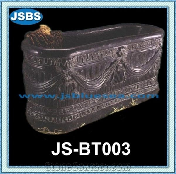 cheap freestanding marble bathtub for sale, natural black marble