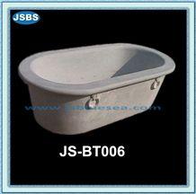 Design Carved Cheap Oval Marble Bathtub