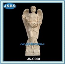 Design Natural White Angel Marble Statue
