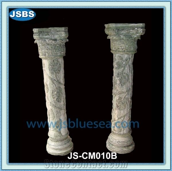 Garden Stone Column Pergola Natural Marble Columns from China