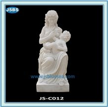 Mother and Child Marble Statue for Sale