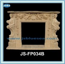 Natural Stone Fireplace Mantel, Natural Marble Fireplace Mantel