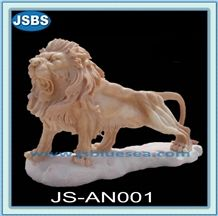 Natural Stone Lion Statue, Natural Marble Statues
