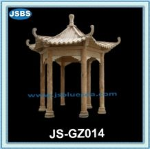 Nautral Marble Chinese Style Gazebo