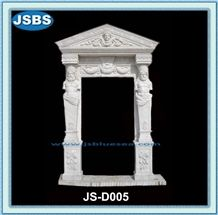 Natural White Marble Door Frame Design