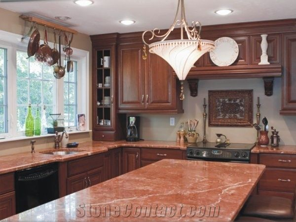 Kantia Red Marble Kitchen Countertop From Croatia