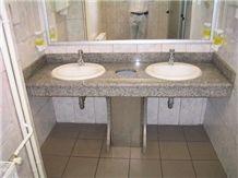 China Bianco Perla Granite Bathroom Top