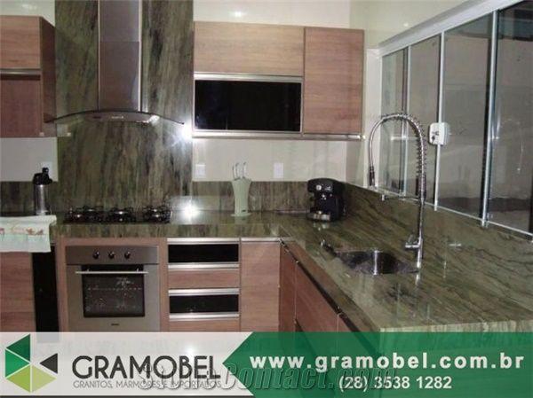Ordinaire Verde Bamboo Quartzite Countertops Green