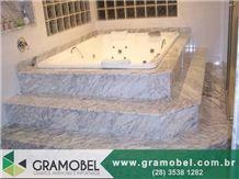 White Arabesque Marble Bath Tub Deck