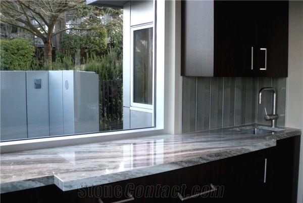 Bardiglio Arabescato Marble Kitchen Countertop