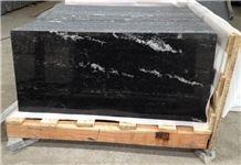China River Black Granite, Via Lactea Granite Slabs & Tiles, China Black Stone Flooring Tiles, Black Granite Wall Tiles
