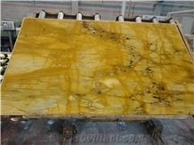 Giallo Siena Marble Slabs Tiles,Yellow Brocatello Di Golden Sienna Marble Panel for Hotel Floor Covering ,Wall Cladding