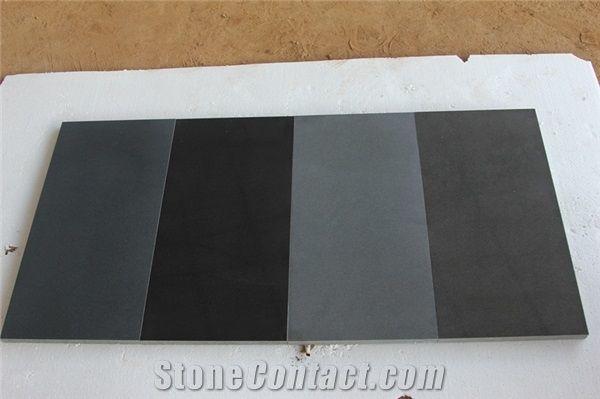 Honed Superior China Black Basalt Light Grey Andesite Lava