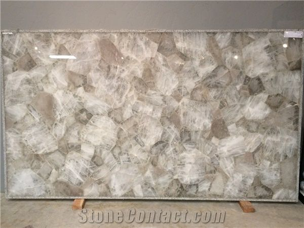 Crystal Quartz Gemstone Slab Tiles From United States