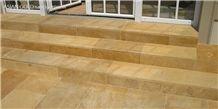 Asian Gold Limestone Skirting Boards, Risers