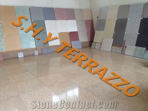 Cement Agglomerated Terrazzo Tiles from China