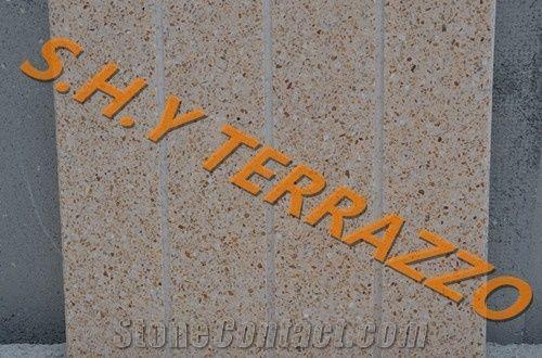 Terrazzo Tiles Cement Agglomerated Stone