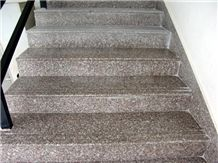G664 Pink Granite Polished Staircase,Steps