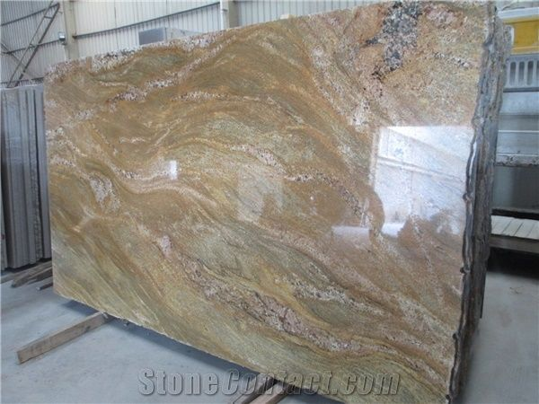 Imperial Gold Yellow Granite Polished Slab Exotic Granite