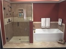 Noce Travertine Bathroom Design