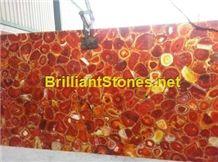 Red Agate Semi-Precious Stone Slab