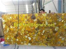 Yellow Agate Semi-Precious Stone Slab