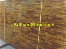 Yellow Tiger Eyes Semi-Precious Stone Slab