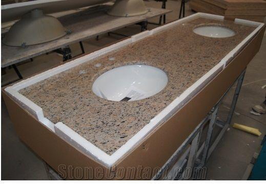 Giallo Bahia Granite Bathroom Vanity Tops Countertops Best Ing Yellow Brazil Por
