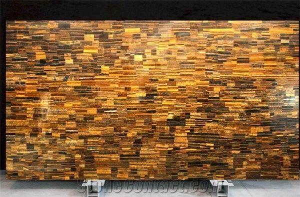Golden Tiger Eye Translucent Semi Precious Stone Slabs