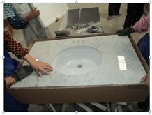Popular White Marble Countertops, Carrara Marble Bathroom Vanity Tops,Bianco Carrara Table Tops, Italy White Marble Tops, Bianco Marble Table Top, Best Selling White Marble Countertops