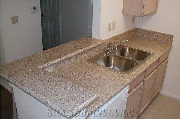 Sunset Gold Granite Kitchen Countertop Whole G682 Prefab Yellow Countertops Usa Best
