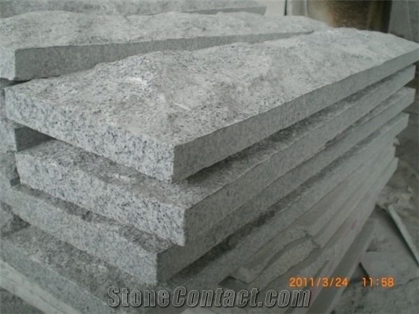 G603 Granite Split Face Mushroom Stone Wall Cladding Stone