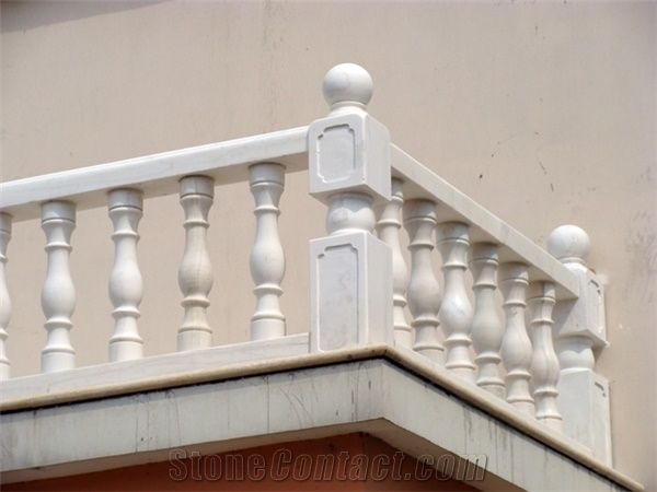 Han White Marble Balustrade Hand Railings China White