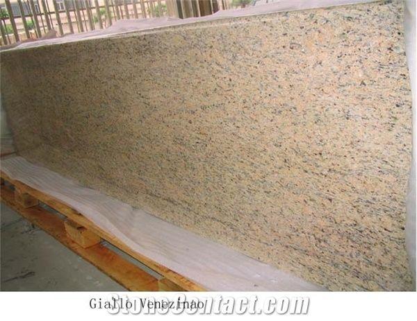 Giallo Veneziano Granite Countertop, Brazil Granite Kitchen Countertop