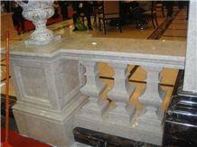 Marble Balustrade & Railing, from Turkey Beige Marble Railings