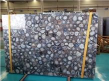 Natural Color Agate Semiprecious Stone Slabs