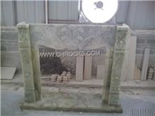 Green Onyx Fireplace Mantel