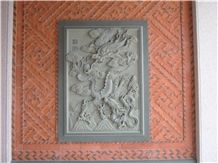Chinese Dragon Natural Granite Relief