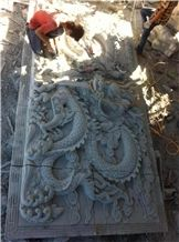 Chinese Traditional Granite Relief