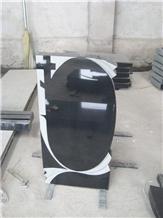 Black Granite Tombstone, Headstone
