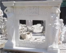 Pure Marble Carving Fireplace Mantels