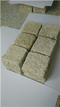 Tumbled Yellow Granite Cobble Stone, G682