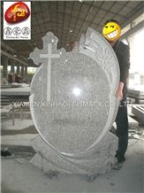 G633 Grey Granite Cross Monument & Tombstone