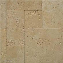 Exclusive Natural Stone Brushed Light Travertine Pattern Luxury